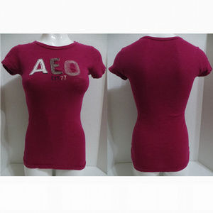 American Eagle top Small AEO Est. 77 spellout